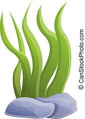 Aquarium plant icon, cartoon style