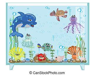 aquarium, vecteur