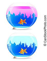 Aquarium. Vector illustration.