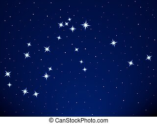 Aquarius constellation on the starry sky