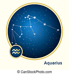 Aquarius constellation - Aquarius constellation zodiac sign...