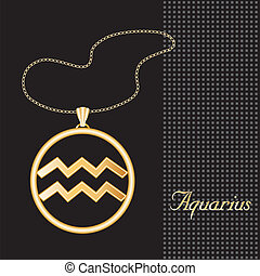 Aquarius Gold Necklace