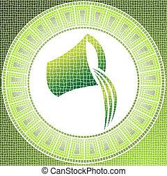 aquarius - Element air: aquarius zodiac sign on a mosaic
