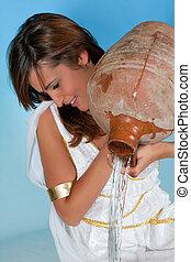 Aquarius woman - Aquarius or Water-Carrier woman, this photo...