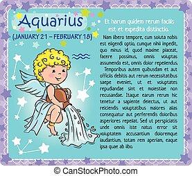 Aquarius Zodiac kid