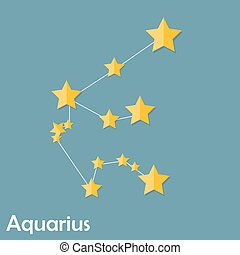 Aquarius Zodiac Sign of the Beautiful Bright Stars