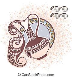 Aquarius. Zodiac sign - Zodiac symbol for your design