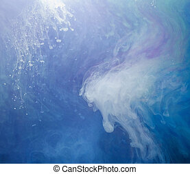 aquatic colors - abstract background with floating color...