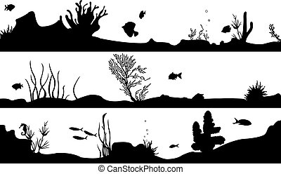 aquatic - marine landscape set