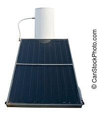aquecedor água, energia, solar