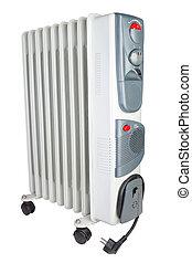 aquecedor, elétrico, costal, oil., experiência., branca