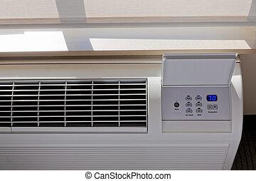 aquecimento, -, ar condicionado, termostato