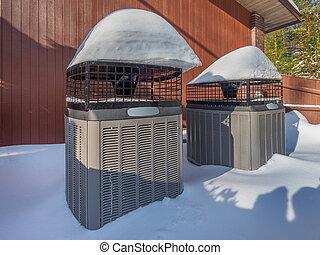 aquecimento elétrico, unidades, em, inverno