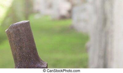 Aqueduct gear wheel - Ancient gear wheel sitting next to...