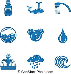 Aqueduct icons set, simple style
