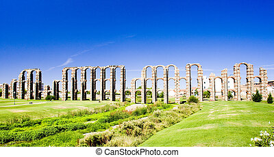 Aqueduct of Los Milagros, Merida, Badajoz Province, ...