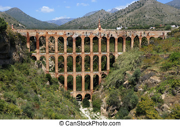Aqueduct on Costa del Sol in Andalusia,near Nerja,Spain