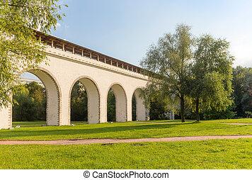 aqueduto, ponte, moscou, parque