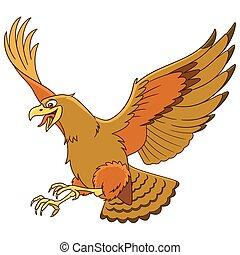 aquila, cartone animato, uccello