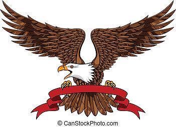 aquila, con, emblema