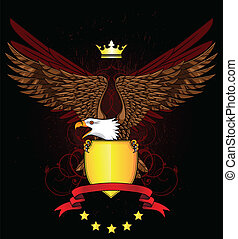 aquila, emblema, scudo