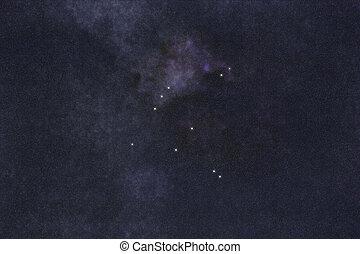 Aquila star constellation, Night sky, Cluster of stars, Deep...