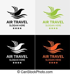 aquila, viaggiare, sagoma, logotipo