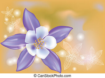 aquilegia. abstract floral background with light. 10 EPS