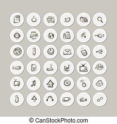 aquilo, ícones, cobrança, para, seu, desenho
