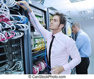 aquilo, enineers, em, usuário rede, sala