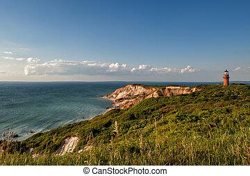 Gay Head Light and Aquinnah Cliffs, Martha's Vineyard, Aquinnah, MA