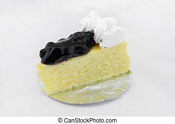 arándano, chee, pastel, blanco, plano de fondo
