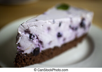 arándano, pastel