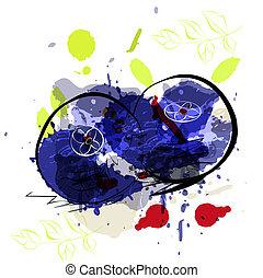 arándanos, ilustración