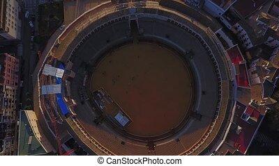 arène, andalousie, célèbre, stade, séville, espagne