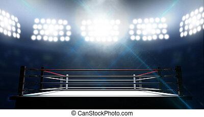 arène, anneau, boxe
