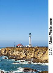 arène, célèbre, phare, californie, point