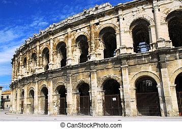 arène, romain, nîmes, france