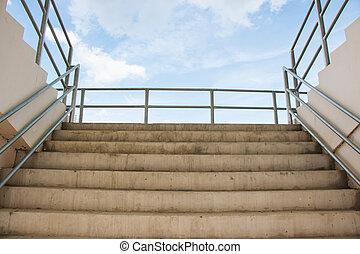 arène, sport, escalier