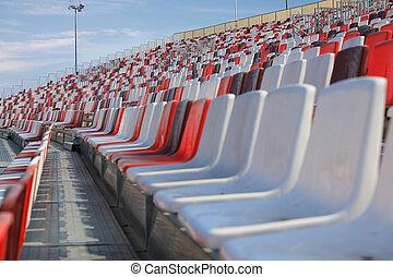 arène, vide, sièges