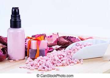 arôme, beauté, wellness, objets, cosmétique