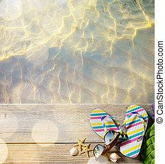 ar, 付属品, summer;, 浜