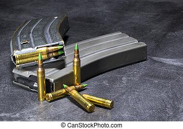 AR-15 Ammunition - Ammunition for an American AR-15 assault...