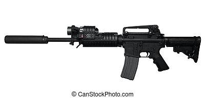 ar-15, rifle de asalto, vista lateral