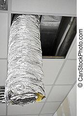 ar condicionado, canalização