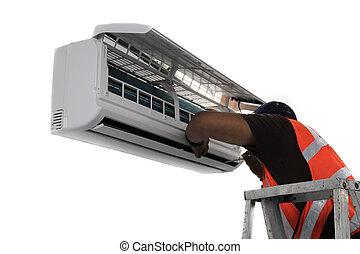 ar condicionado, reparar