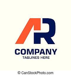 ar, geomã©´ricas, letra, logotipo