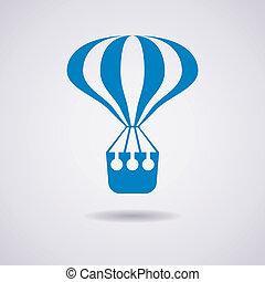 ar, quentes, vetorial, balloon, ícone