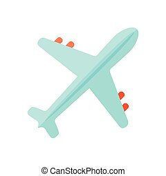 ar, topo, avião, vector., vista