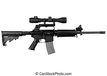 AR15 Assault Rifle isolated over a white background